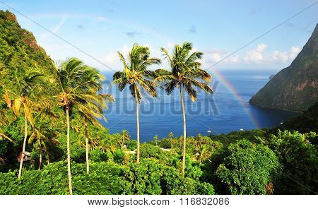 Picturesque Bay Of Piton
