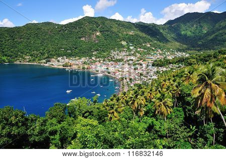 Soufriere Bay And Town