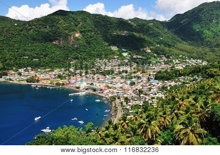 Soufriere Between The Mountains