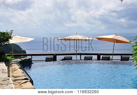 Pool And Umbrellas