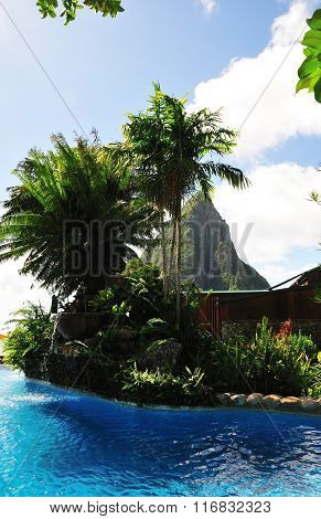 Pool With View Of Piton