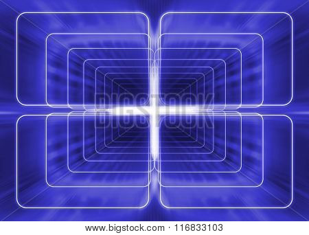 linear projection of space like geometrical beams
