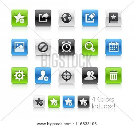 Web and Mobile Icons 2 / The file Includes 4 color versions in different layers.