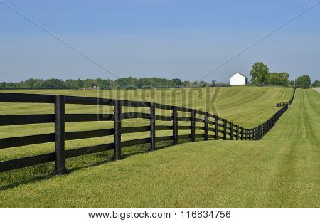 Brown colored rail style fence