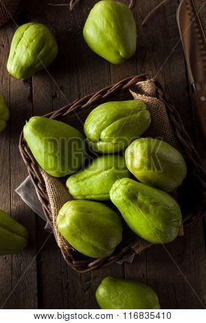 Raw Green Organic Chayote