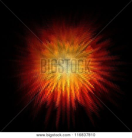 Abstract burst background with orange shapes