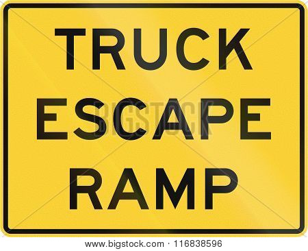 United States Mutcd Warning Road Sign - Truck Escape Ramp