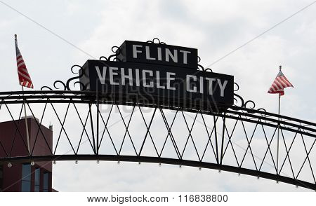 Flint Vehicle City Sign