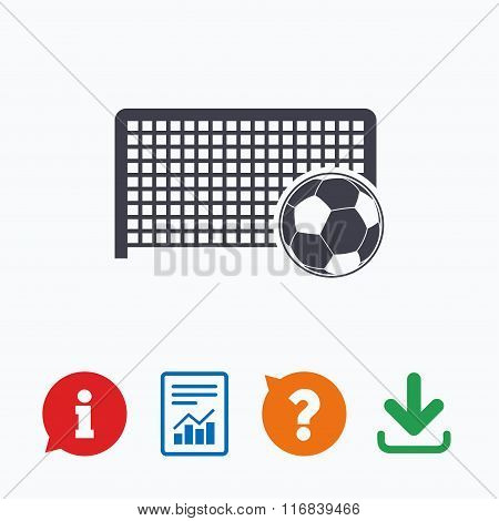 Football gate sign icon. Soccer Sport symbol.