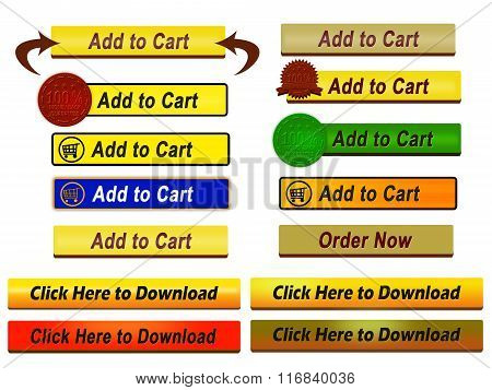 Add To Cart Buttons Set (Isolated)