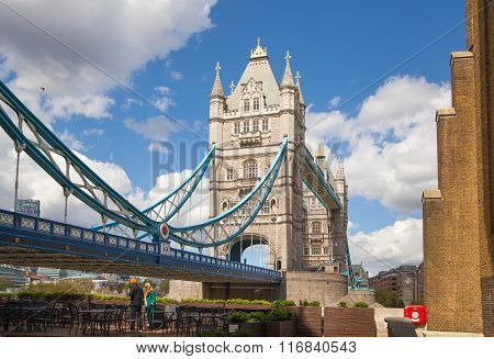 LONDON, UK - APRIL 30, 2015: Tower bridge