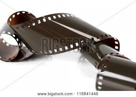 Film strip on a white background