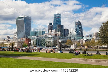 LONDON, UK - APRIL 30, 2015:  City of London business and financial aria