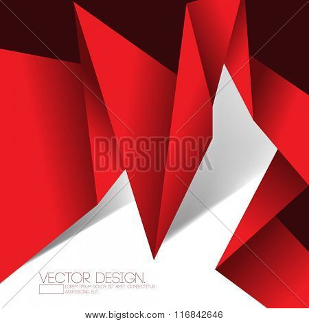 origami inspired folded paper material abstract design
