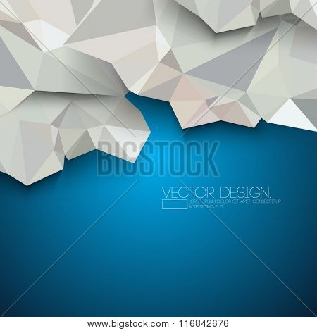 triangular polygons crumple paper effect material design
