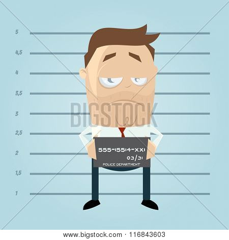 funny cartoon mugshot