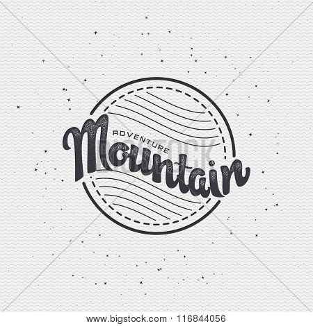 Mountain adventure and expedition insignia badges It can be used as a print on clothing, stamped bus