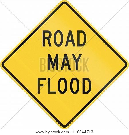 United States Mutcd Road Sign - Road May Flood