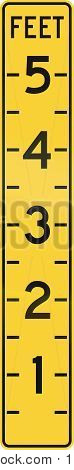 United States Mutcd Warning Road Sign - Height Scale In Feet