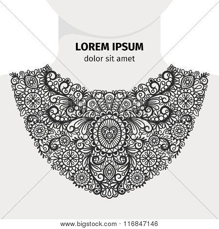 Neck print design