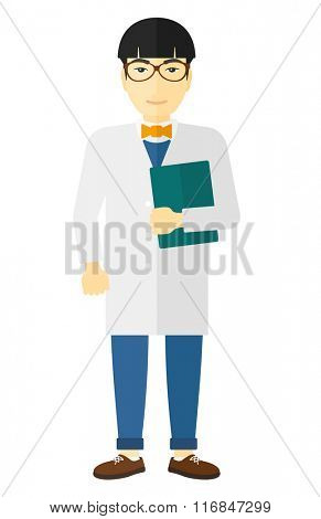 Doctor holding file.