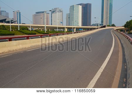 Intersection Of Urban Overpass And Highway