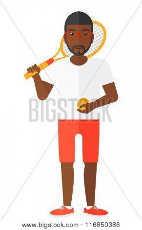 Big tennis player.