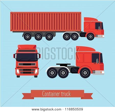 Illustration Of A Flat Truck