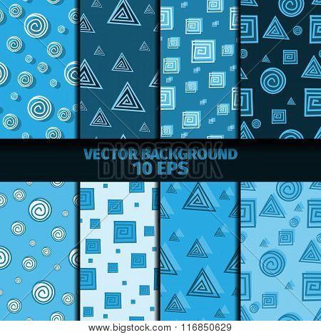 Abstract Geometric Seamless Patterns