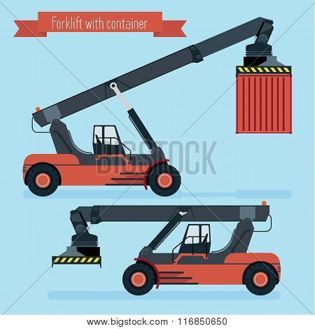 Flat Forklift Container.