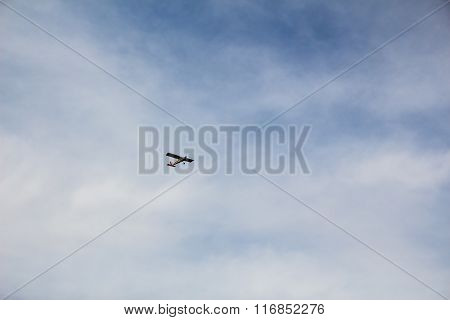 Light Aircraft Flying In The Sky