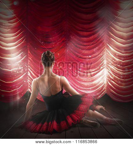 Ballerina at theater