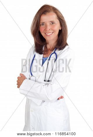 Mid age Smiling female doctor