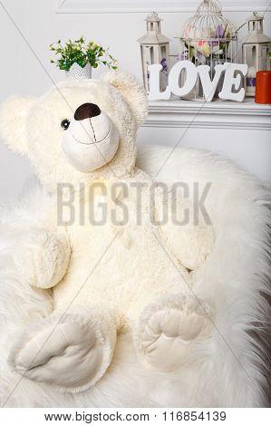 White Christmas Bear