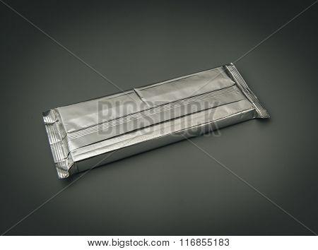 Aluminum foil package.