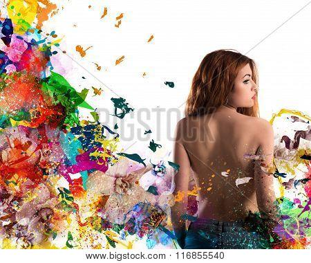 Floral femininity