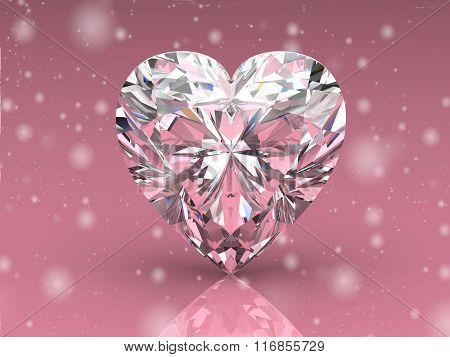 Diamond on  background (high resolution 3D image)