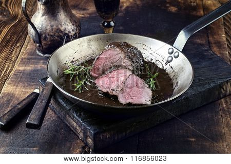 Roast Boar Neck in Frying Pan