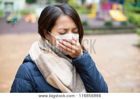 Woman wearing medical mask
