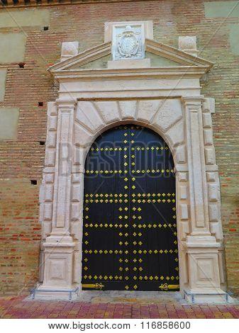 Gold Studded Church Door