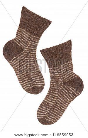 Knitted Socks Brown