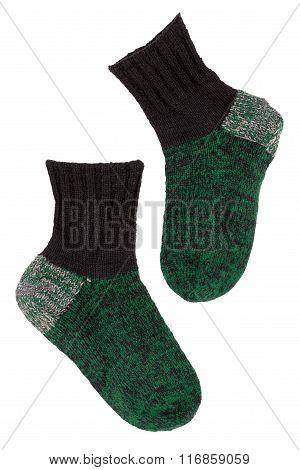 Knitted Green Socks