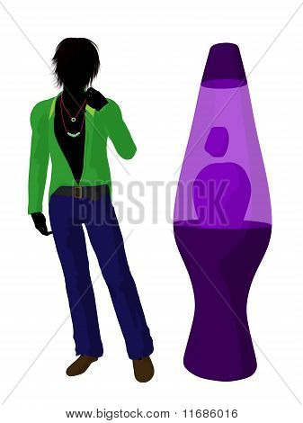 Disco Guy Silhouette Illustration
