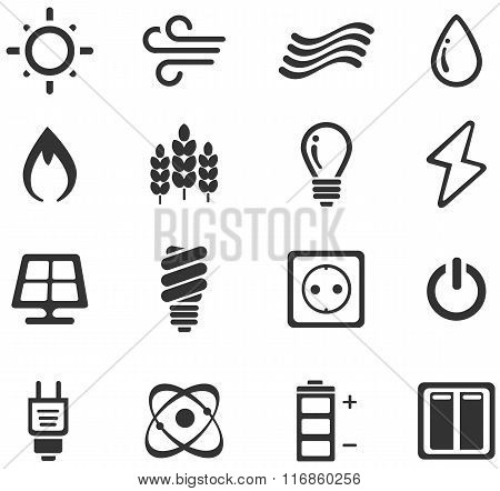 Fuel and Power Generation Icons