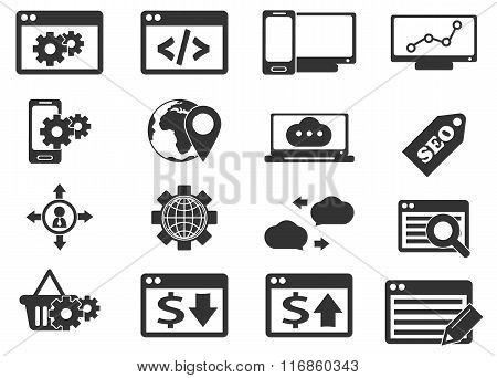 SEO and Development icons set