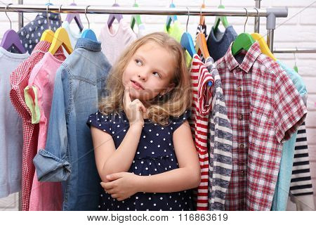 Little girl and new clothes