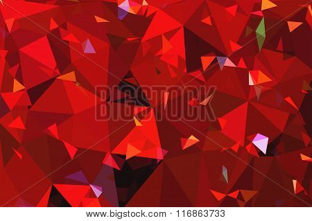 Red Geometric Rumpled Triangular Low Poly Origami Style Gradient Illustration Graphic Background.