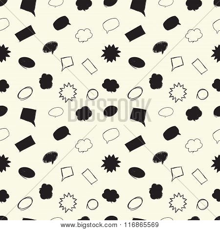Seamless pattern with message bubbles.