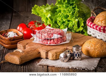 Ingredients For Making Homemade Burger