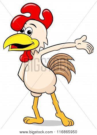 Presenting Cartoon Chicken